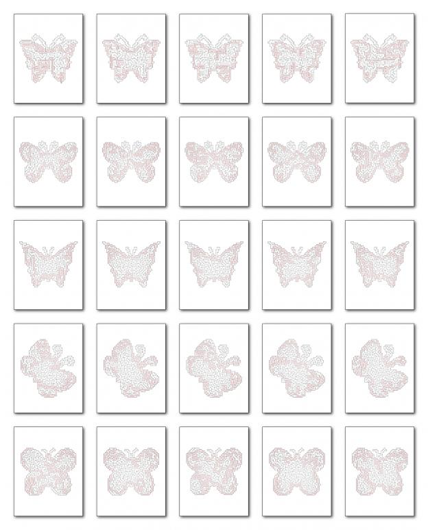 Zen PLR Crazy Mazes Butterflies Edition Volume 01 All Solutions Graphic