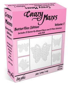 Zen PLR Crazy Mazes Butterflies Edition Volume 01 Product Cover