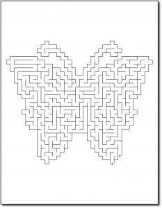 Zen PLR Crazy Mazes Butterflies Edition Volume 01 Sample Maze 01