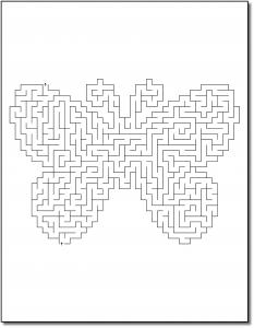 Zen PLR Crazy Mazes Butterflies Edition Volume 01 Sample Maze 02