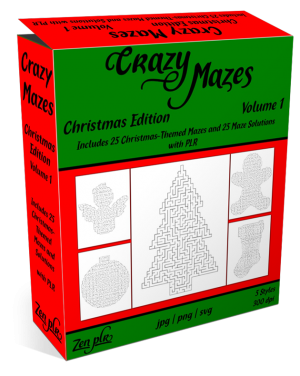 Zen PLR Crazy Mazes Christmas Edition Volume 01 Product Cover