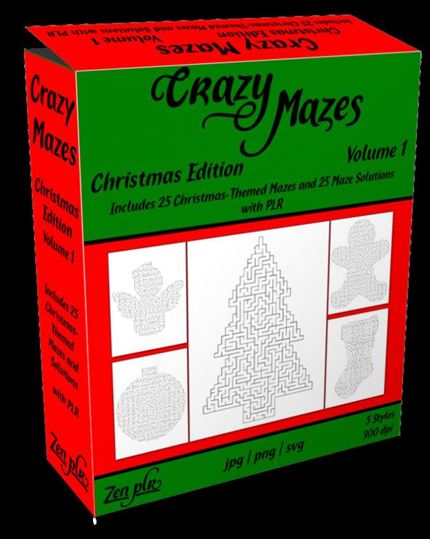 Zen PLR Crazy Mazes Christmas Edition Volume 01 Product Cover