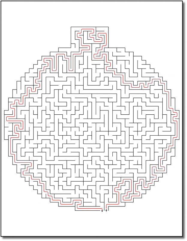 Zen PLR Crazy Mazes Christmas Edition Volume 01 Sample Maze 04 Solution