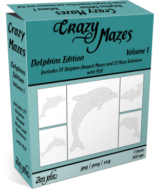 Zen PLR Crazy Mazes Dolphins Edition Volume 01 Product Cover