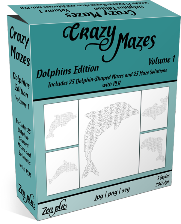 Zen PLR Crazy Mazes Dolphins Edition Volume 01 Product Cover