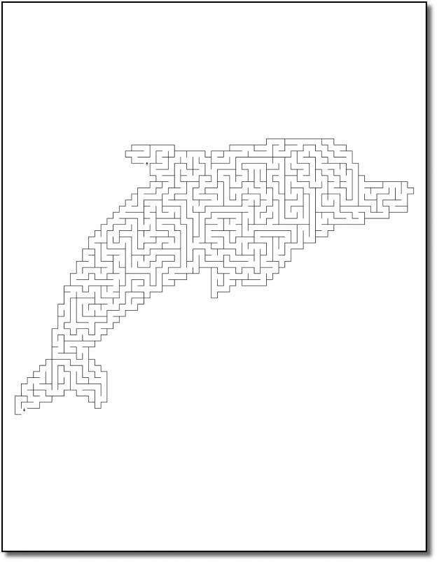 Zen PLR Crazy Mazes Dolphins Edition Volume 01 Sample Maze 01