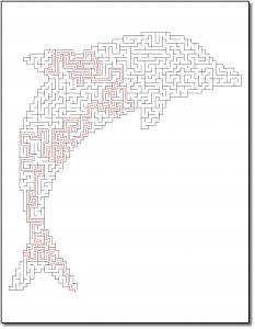 Zen PLR Crazy Mazes Dolphins Edition Volume 01 Sample Maze 04 Solution