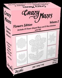 Zen PLR Crazy Mazes Flowers Edition Volume 02 Product Cover