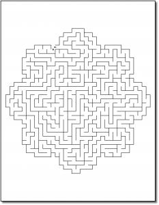 Zen PLR Crazy Mazes Flowers Edition Volume 02 Sample Maze 01