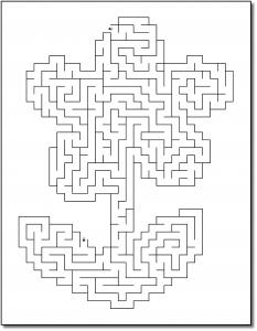 Zen PLR Crazy Mazes Flowers Edition Volume 02 Sample Maze 02