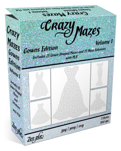 Zen PLR Crazy Mazes Gowns Edition Volume 01 Product Cover