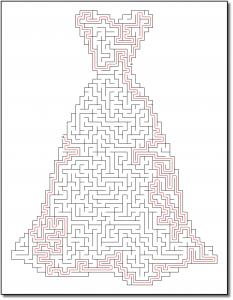 Zen PLR Crazy Mazes Gowns Edition Volume 01 Sample Maze Solution 05