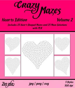 Zen PLR Crazy Mazes Hearts Edition Volume 02 Front Cover