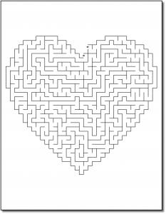 Zen PLR Crazy Mazes Hearts Edition Volume 02 Sample Maze 03