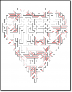 Zen PLR Crazy Mazes Hearts Edition Volume 02 Sample Maze Solution 04