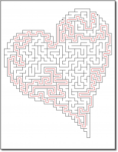 Zen PLR Crazy Mazes Hearts Edition Volume 02 Sample Maze Solution 05