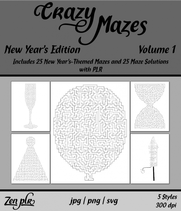 Zen PLR Crazy Mazes New Year's Edition Volume 01 Front Cover