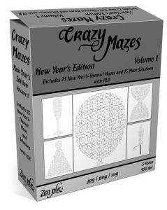 Zen PLR Crazy Mazes New Year's Edition Volume 01 Product Cover