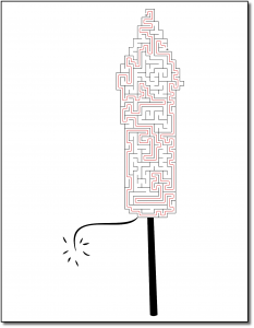 Zen PLR Crazy Mazes New Year's Edition Volume 01 Sample Maze Solution 05