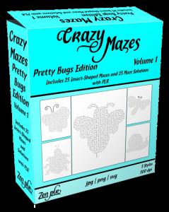 Zen PLR Crazy Mazes Pretty Bugs Edition Volume 01 Product Cover