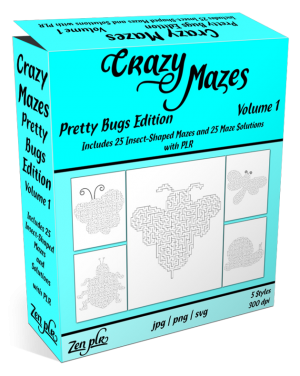 Zen PLR Crazy Mazes Pretty Bugs Edition Volume 01 Product Cover