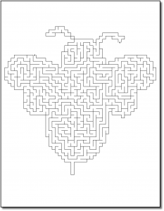 Zen PLR Crazy Mazes Pretty Bugs Edition Volume 01 Sample Maze 01