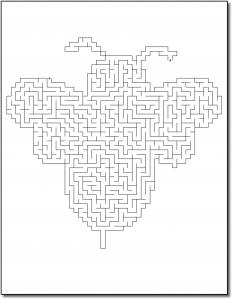 Zen PLR Crazy Mazes Pretty Bugs Edition Volume 01 Sample Maze 01