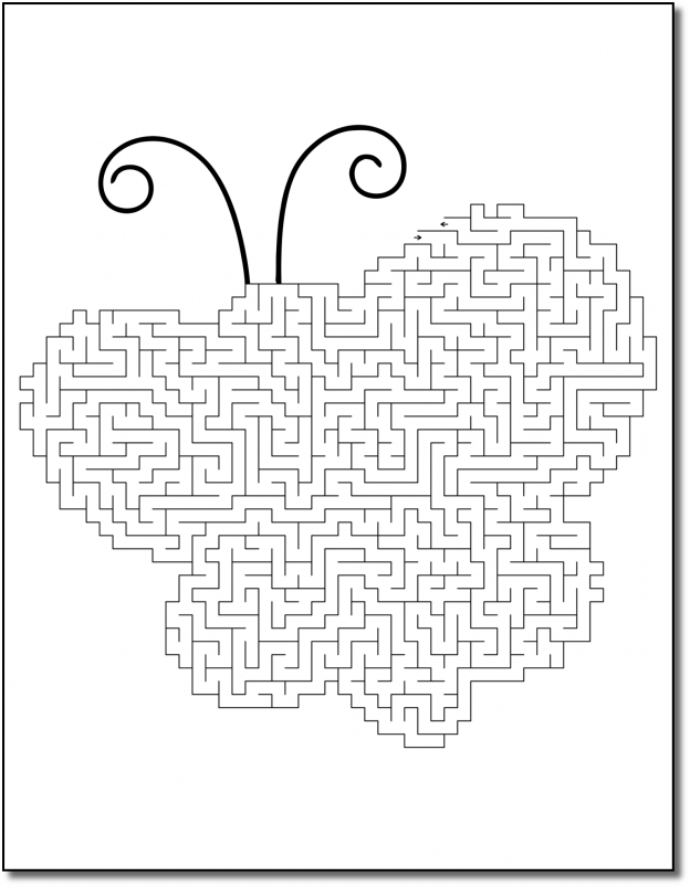 Zen PLR Crazy Mazes Pretty Bugs Edition Volume 01 Sample Maze 02