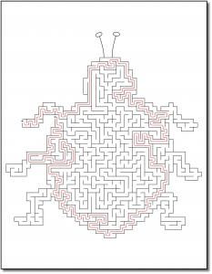 Zen PLR Crazy Mazes Pretty Bugs Edition Volume 01 Sample Maze Solution 04