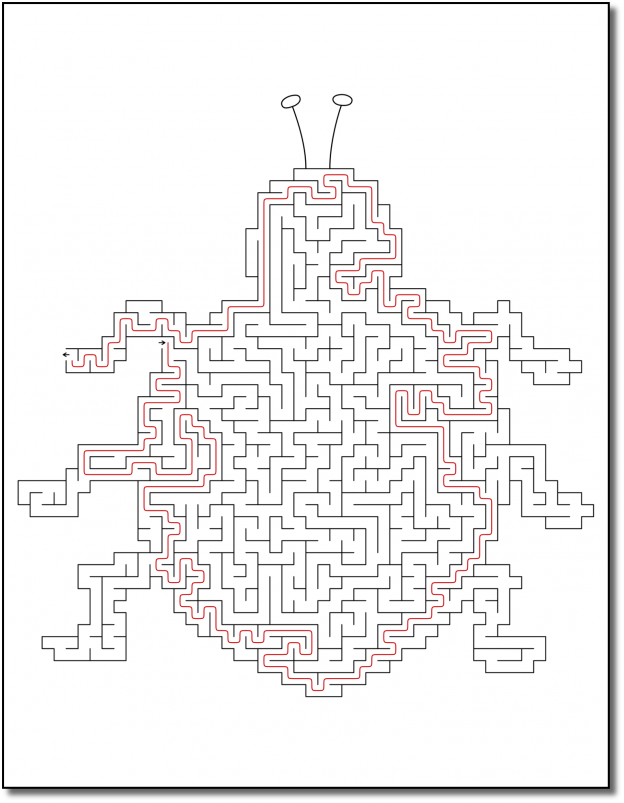 Zen PLR Crazy Mazes Pretty Bugs Edition Volume 01 Sample Maze Solution 04