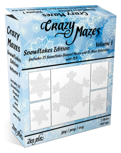Zen PLR Crazy Mazes Snowflakes Edition Volume 01 Product Cover