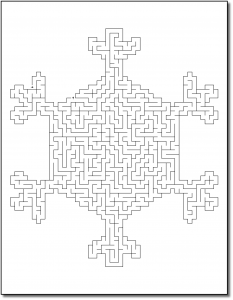 Zen PLR Crazy Mazes Snowflakes Edition Volume 01 Sample Maze 01