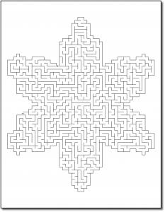 Zen PLR Crazy Mazes Snowflakes Edition Volume 01 Sample Maze 02