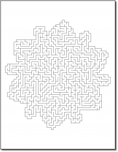 Zen PLR Crazy Mazes Snowflakes Edition Volume 01 Sample Maze 03