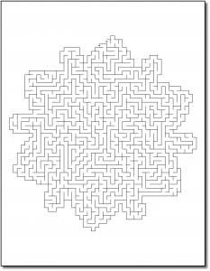 Zen PLR Crazy Mazes Snowflakes Edition Volume 01 Sample Maze 03