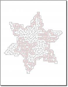 Zen PLR Crazy Mazes Snowflakes Edition Volume 01 Sample Maze Solution 04