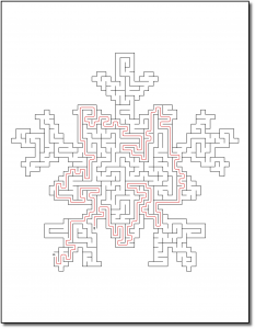 Zen PLR Crazy Mazes Snowflakes Edition Volume 01 Sample Maze Solution 05