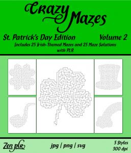 Zen PLR Crazy Mazes St Patricks Day Edition Volume 02 Front Cover