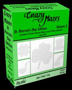 Zen PLR Crazy Mazes St Patricks Day Edition Volume 02 Product Cover