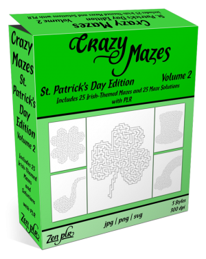 Zen PLR Crazy Mazes St Patricks Day Edition Volume 02 Product Cover