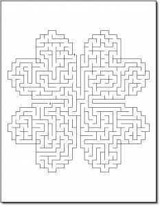 Zen PLR Crazy Mazes St Patricks Day Edition Volume 02 Sample Maze 01