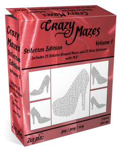 Zen PLR Crazy Mazes Stilettos Edition Volume 01 Product Cover