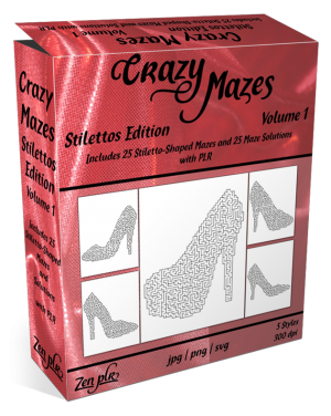 Zen PLR Crazy Mazes Stilettos Edition Volume 01 Product Cover