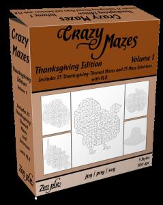Zen PLR Crazy Mazes Thanksgiving Edition Volume 01 Product Cover