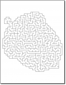 Zen PLR Crazy Mazes Thanksgiving Edition Volume 01 Sample Maze 01