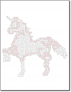 Zen PLR Crazy Mazes Unicorns Edition Volume 01 Sample Maze Solution 04