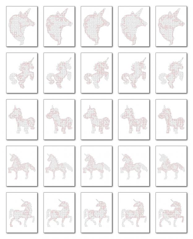 Zen PLR Crazy Mazes Unicorns Edition Volume 02 All Solutions Graphic