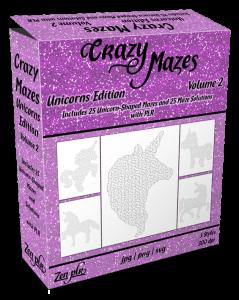 Zen PLR Crazy Mazes Unicorns Edition Volume 02 Product Cover