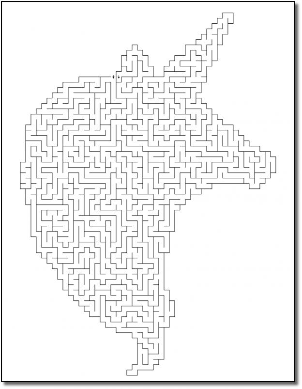 Zen PLR Crazy Mazes Unicorns Edition Volume 02 Sample Maze 01