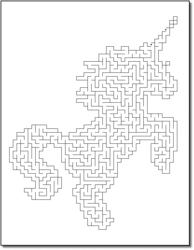 Zen PLR Crazy Mazes Unicorns Edition Volume 02 Sample Maze 02